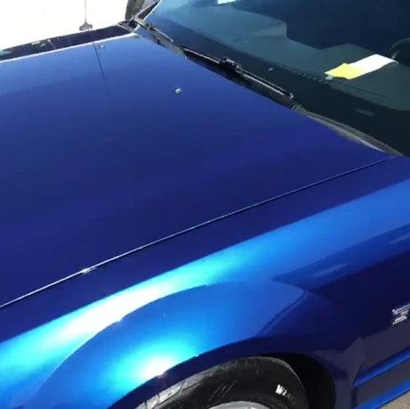 Blue Sky Mustang