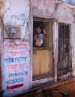 Looking out - Varanasi