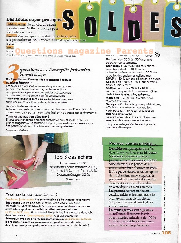 Article conseil Personal Shopper