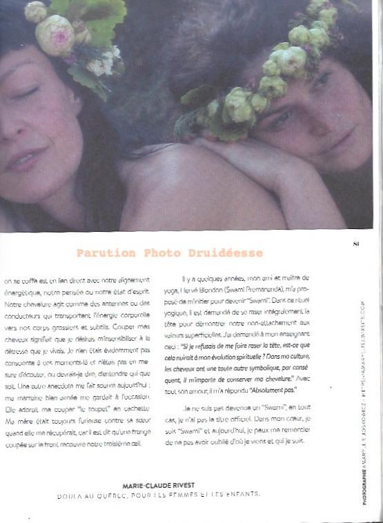 Mon regard pour le magazine Druidéesse