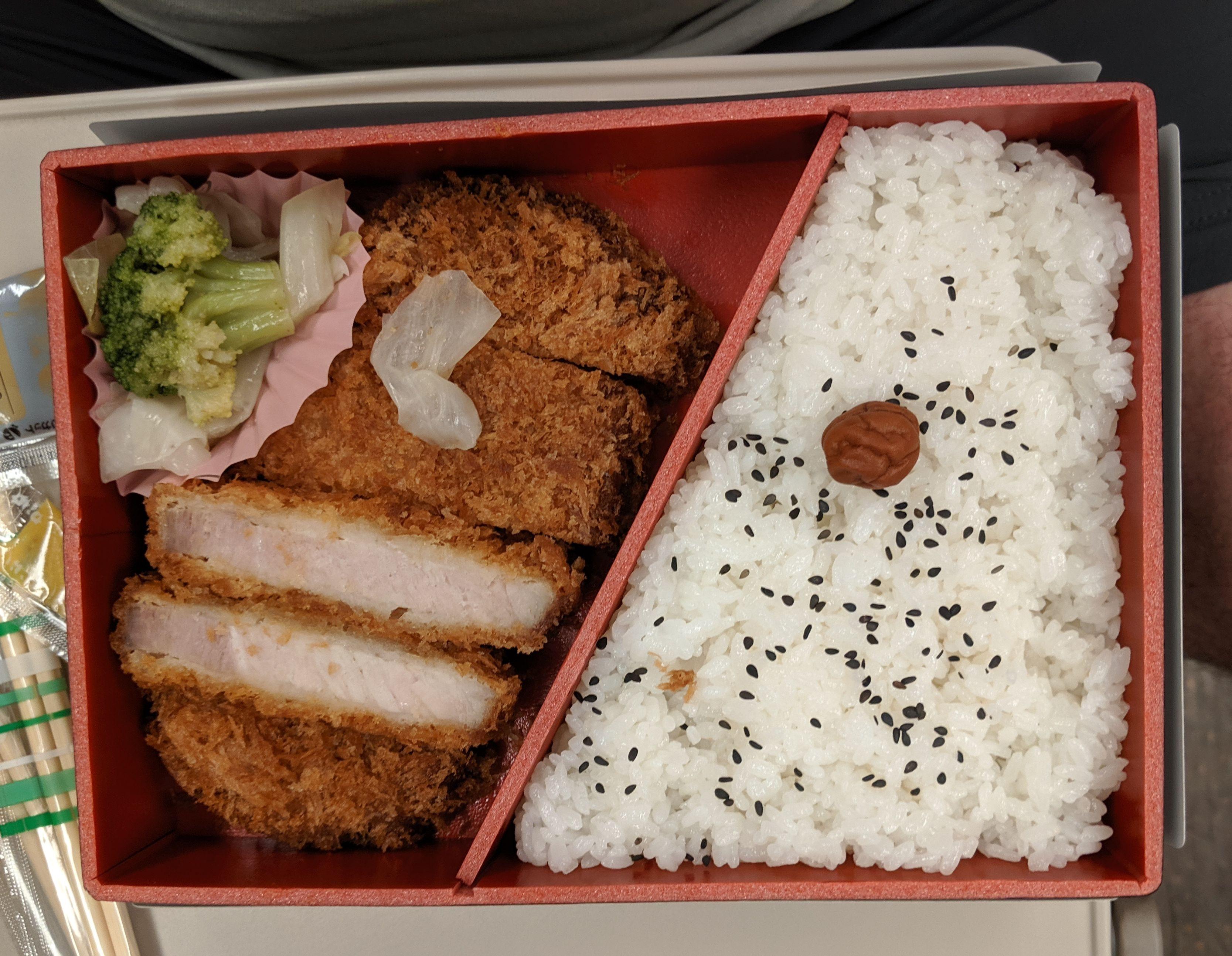 Katsu Bento on Train