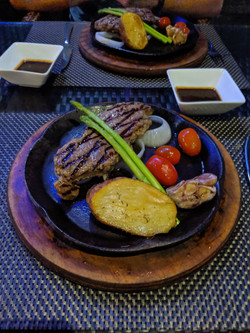 Steak in the sky bar