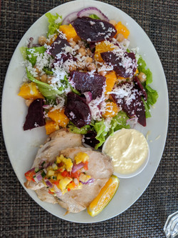 Fish with Beetroot Salad