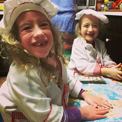 My little #twingirls in their official Chefmoreyeats #chefcoats