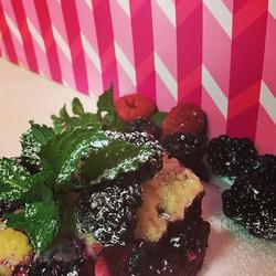 #blackberrycobbler of late season, local, #organic blackberries