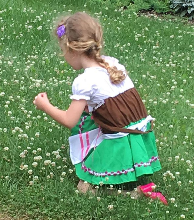 Just a few months ago I took this photo of one of my daughters in her first #dirndl ; and I meant to