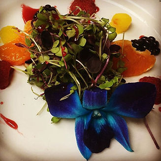 A salad of organic #microgreens  and #ed