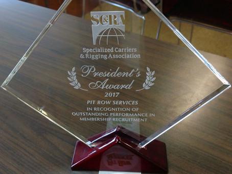 Pit Row wins SC&RA's 2018 President's Award