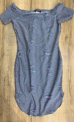 Denim Print Mini Dress