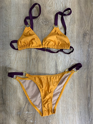 Yellow Violet Bikini