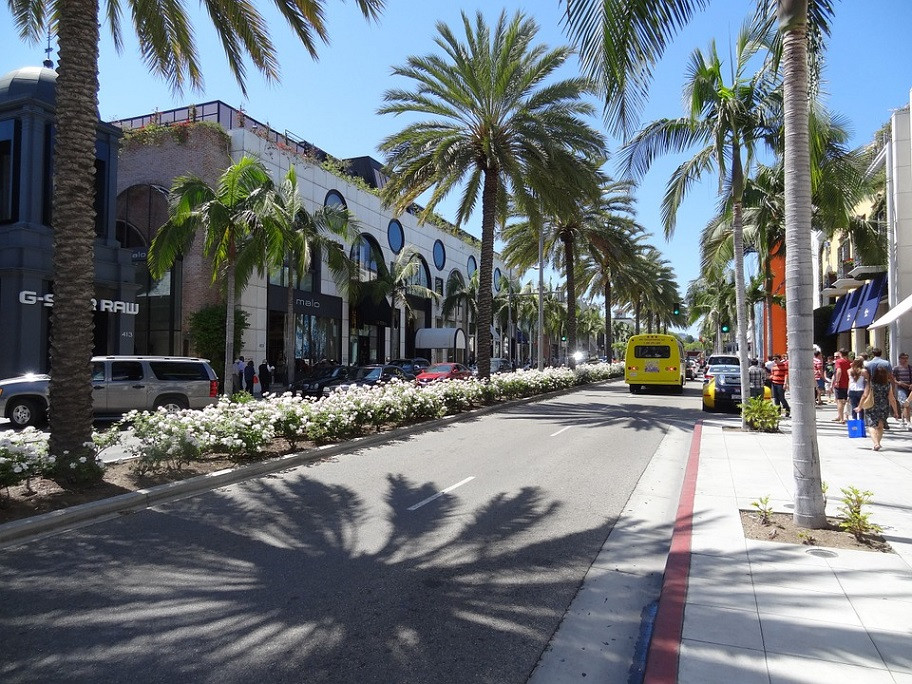 Los Angeles, Rodeo Drive in Summer