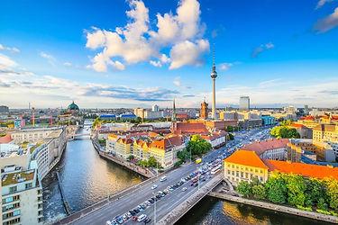 Berlin River Spree Skyine