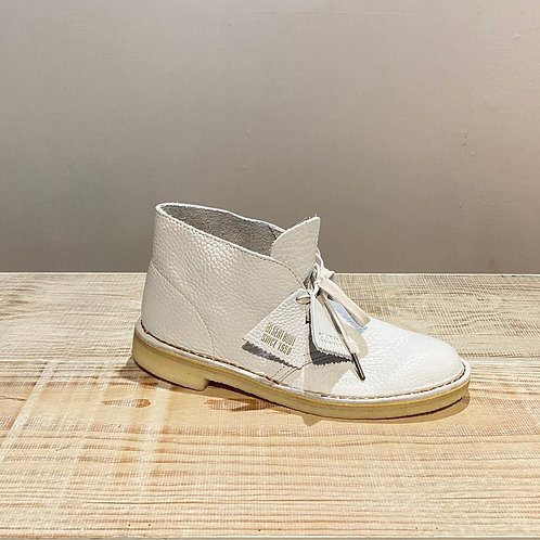 "Desert Boot ""white leather"""