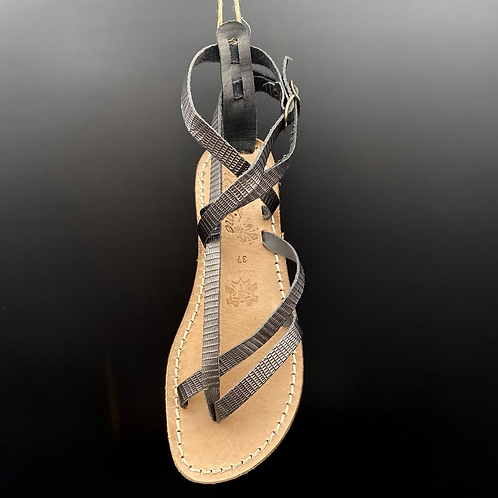 "Sandalo flat ""574 Titanio"""