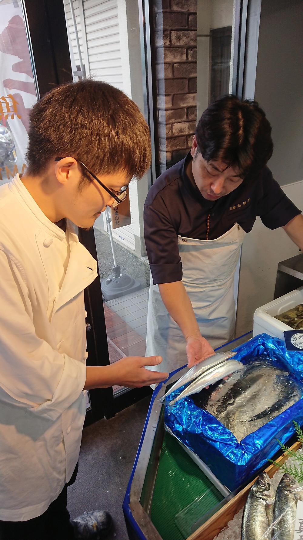 新鮮 秋刀魚のジェノベーゼ