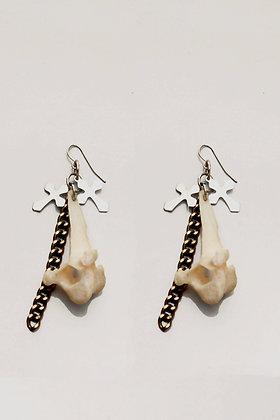 Real Fox Bone Earrings