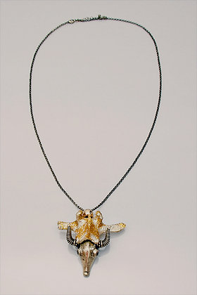 One-off Real Sheep Vertebra and Buffalo Necklace