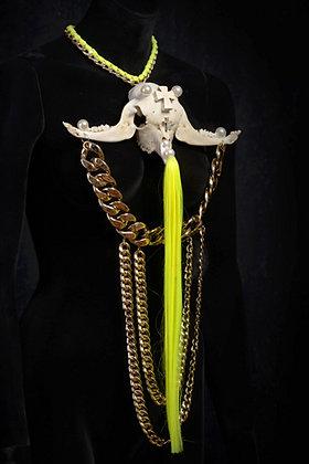 Real Lamb's Skull & Jaw Bone Necklace