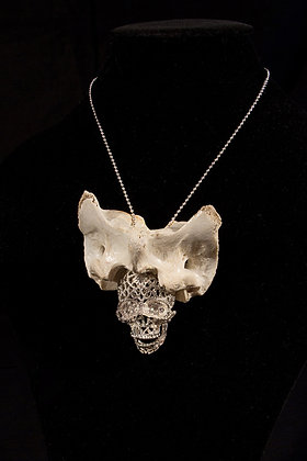 One-off Ram Atlas Bone Skull Necklace