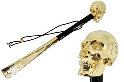 Mantis London Gold Skull Shoe Horn