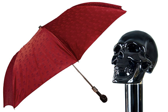 Mantis London Skull Print Skull Handle Umbrella