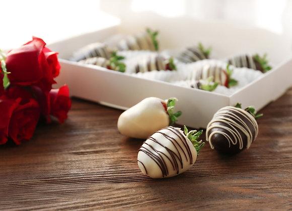 Half Dozen Gourmet Chocolate Dipped Strawberries