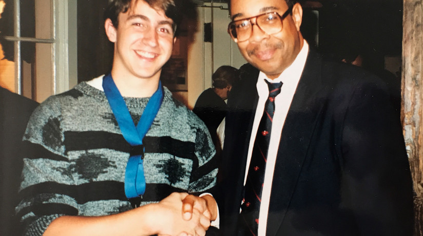Meeting Dr. Michael White - early 90s