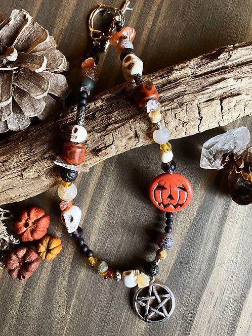 Autumn Witch Beaded Choker