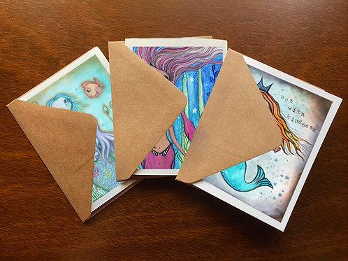Mermaids Greeting Card Set