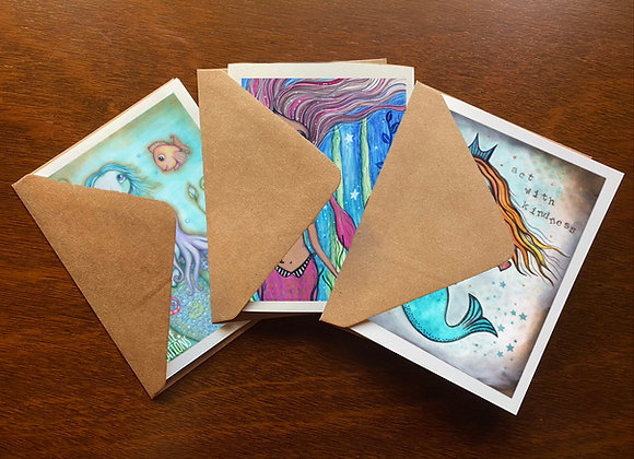 Mermaids Greeting Card Set