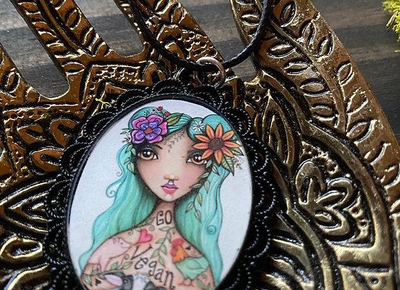 Resin Necklace - Vegan Goddess