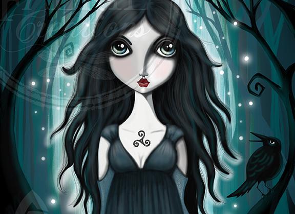 Morrigan - Irish Goddess of Death and Guardian of the dead.