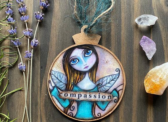 Compassion - Wooden Ornament