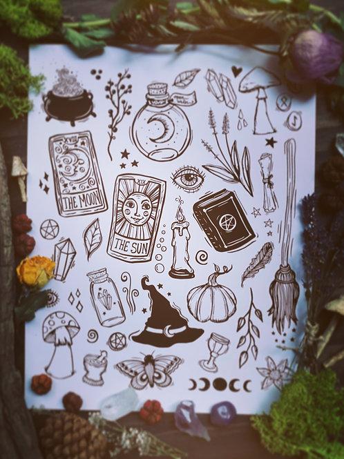 Witchy Poo Clip Art Bundle