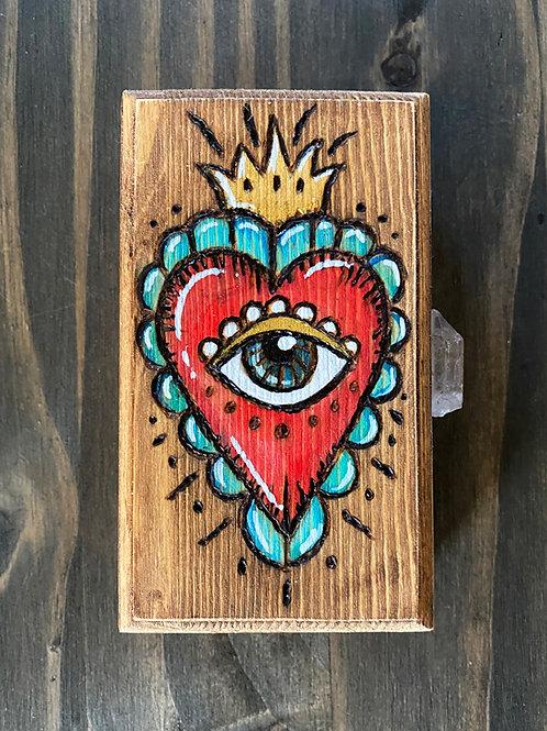 All Seeing Heart - Wooden Keepsake Box