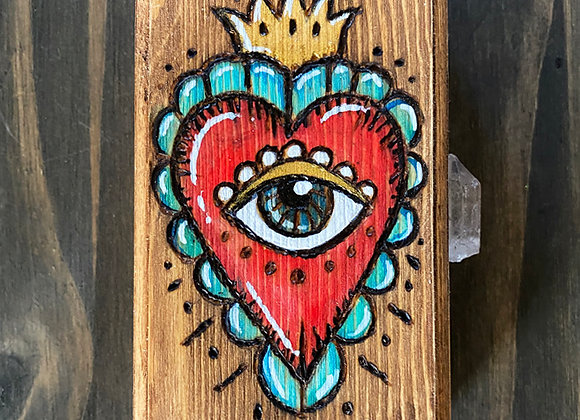 All Seeing Heart - Wooden Keepsake Box