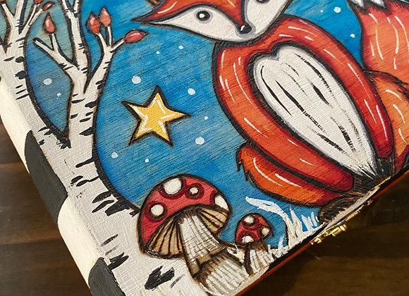 Woodland Fox - Wooden Keepsake Box