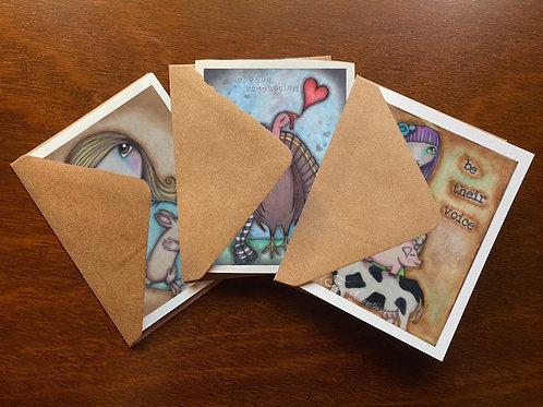 Animal Love Greeting Card Set