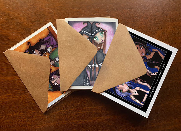 Witchy Greeting Card Set