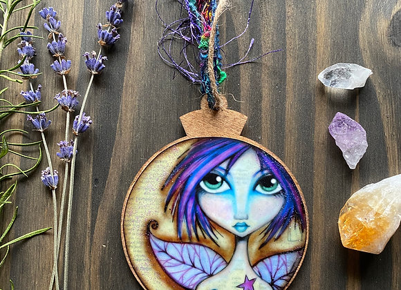 The Grumpy Faerie - Wooden Ornament