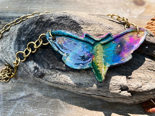 Enchanted Forest Moth Necklace