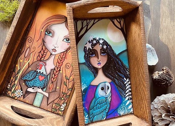 Wooden Nesting Accessory Trays