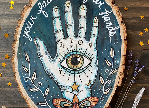 Fate is in Your Hands - Basswood Rustic Wall Art