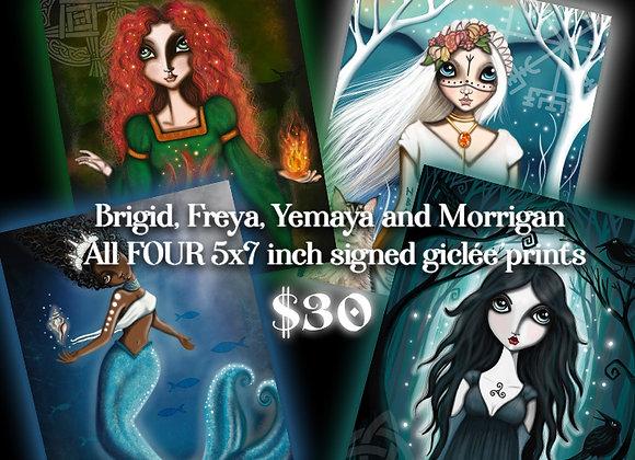 5x7 Goddess Set - Signed Glicée Prints