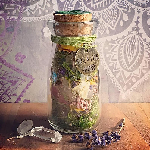 Faerie Positivity Jar with Affirmation Cards