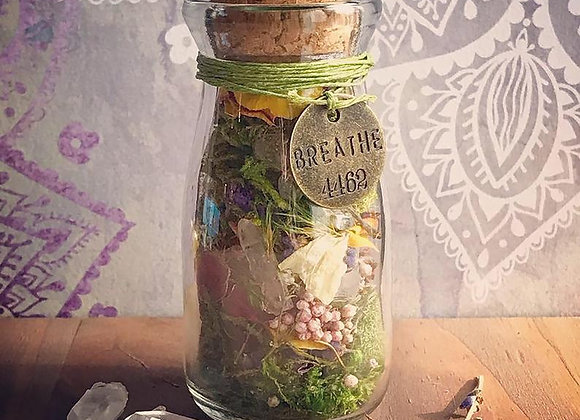 Faerie Healing Jar with Affirmation Cards