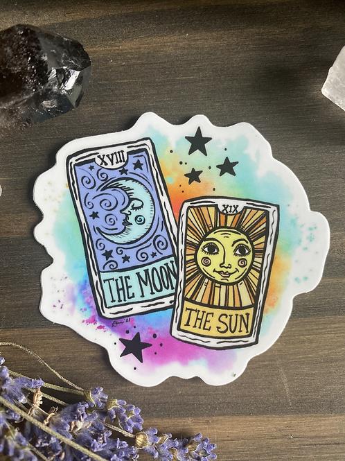 Sun and Moon Tarot Sticker