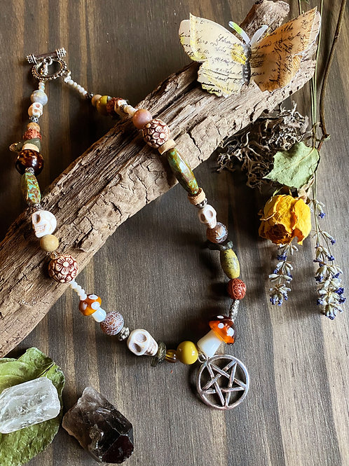 Cottage Witch Beaded Choker