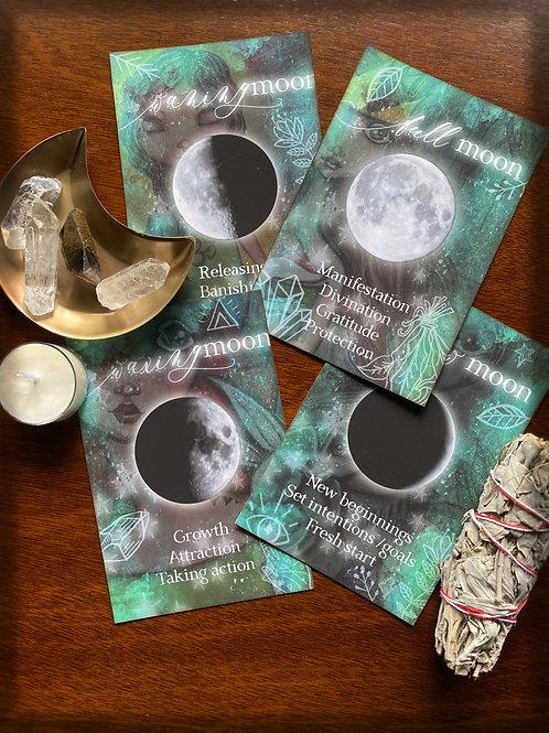 Moon Phase Altar Cards