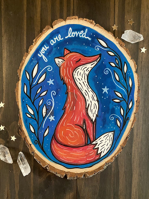 You Are Loved - Basswood Rustic Wall Art
